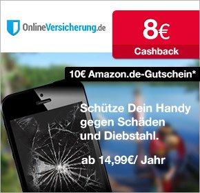 [Qipu] Handy / Tablet etc. versichern für 14,99€ und 10€ Amazon +8€ Cashback erhalten @ onlineversicherung.de
