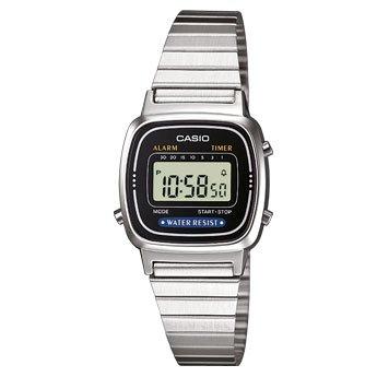 Casio Unisex-Armbanduhr Digital Quarz Edelstahl LA-670WEA-1EF >>15,05€ (Prime->12,05€)