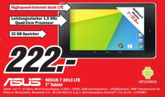 [Lokal Kaiserslautern] ASUS Google Nexus 7 32GB LTE (2013) für 222€