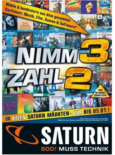 [Saturn Köln] Nimm 3 zahl 2 (Musik/Film/Games/Software) 14.-17.5