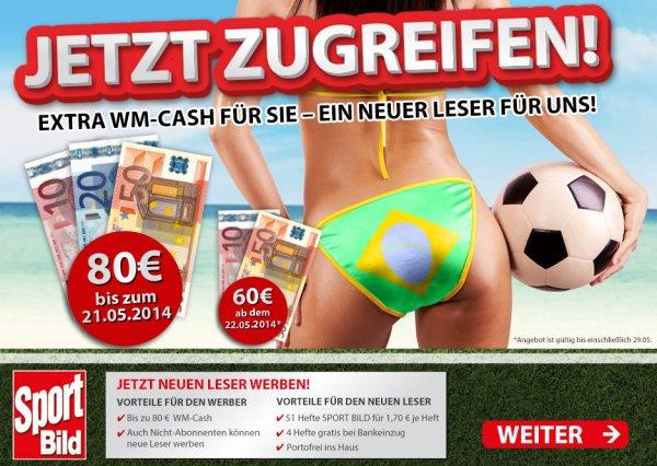 Sport Bild Jahresabo (51 Ausgaben) für 6,70 Euro