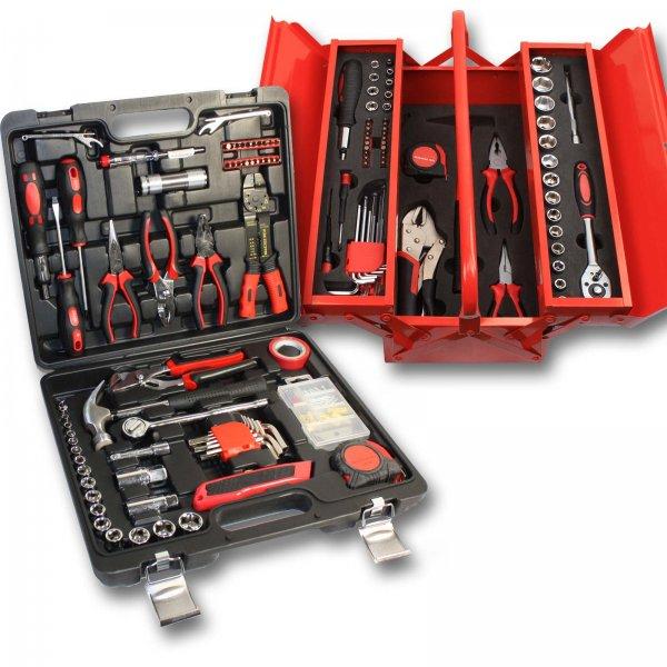 [eBay] Werkzeugkiste Werkzeugkoffer 179 tlg Metall-Werkzeugkiste oder Kunststoffkoffer zu 29,95 EUR