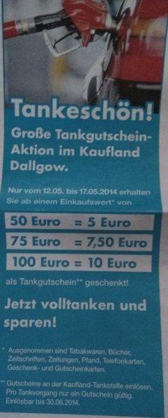 [Lokal] Kaufland Dallgow Tankgutscheine 5€ 7,50€ 10€