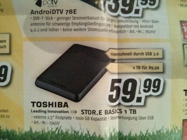 Toshiba Store.E. Basics 2 TB, Medimax