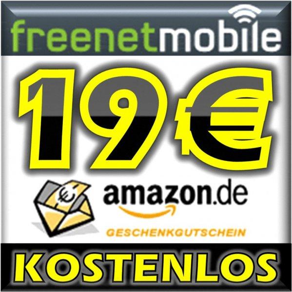 19€ Amazon Gutschein, 50 frei Minuten, 50 frei SMS, Internet-Flat 100