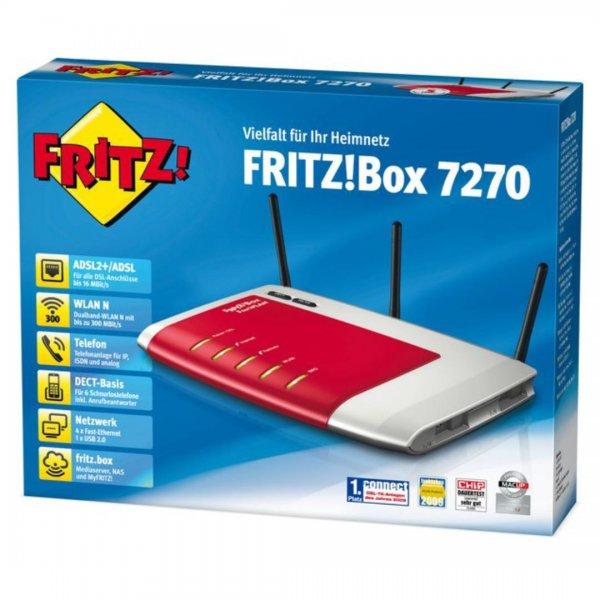 Fritz!Box Fon WLAN 7270 DEMOWARE Gutschein nicht vergessen