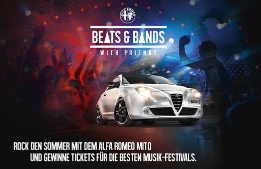 Für MiTo-Probefahrt limitiertes Beats and Bands-Festival Kit geschenkt + Festivaltickets-Gewinnspiel