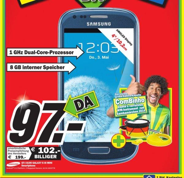 Samsung Galaxy S3 Mini bei Media Markt in Ravensburg für 97€