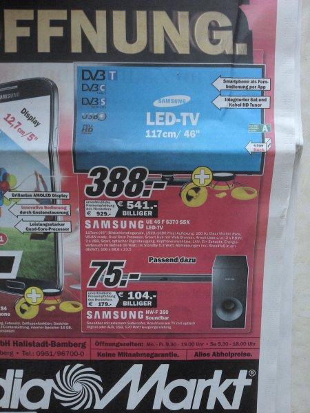 [Lokal MM Hallstadt-Bamberg] Samsung UE46F5370 SSX LED-TV