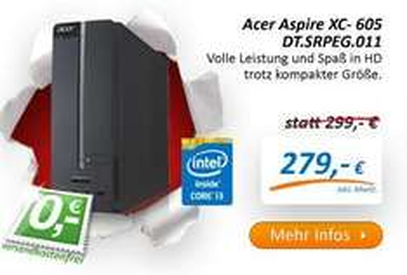 Acer PC Aspire XC- 605 Core i3-4130, 4 GB RAM, 500 GB  FreeDOS