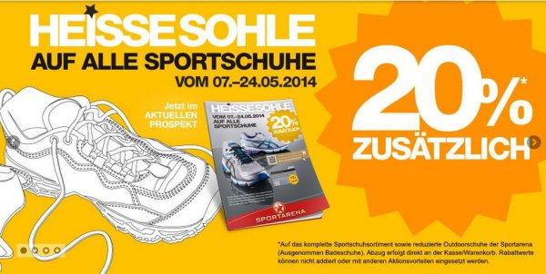 Viele Markensportschuhe günstig bei Sportarena - 20% off - z.B Nike, Asics + Paybackvorteil !