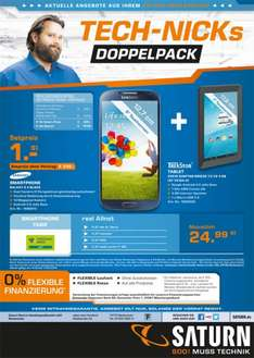 (lokal Saturn Neckarsulm) Samsung Galaxy S4 Black + TrekStor Surftab Breeze