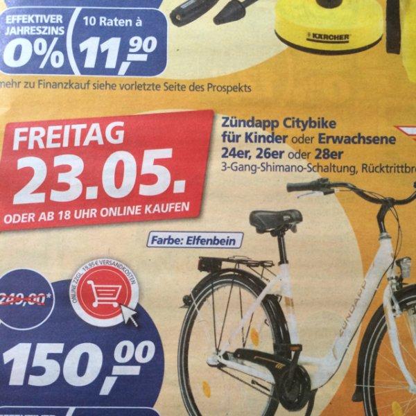 Zündapp Citybike 24er, 26er, 28er nur Fr. 23.05 online und offline