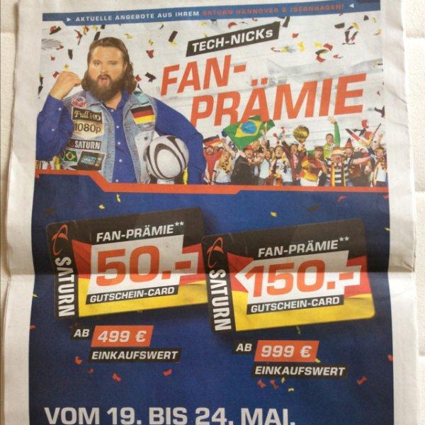 [Lokal Hannover] Saturn Gutschein Card 50€ bzw. 150€