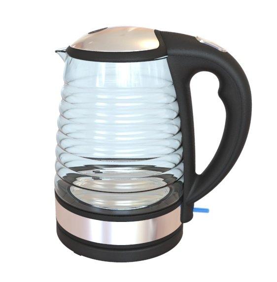 Glas Design Wasserkocher mit blauer LED Beleuchtung 20,89 € inklusive Versandkosten