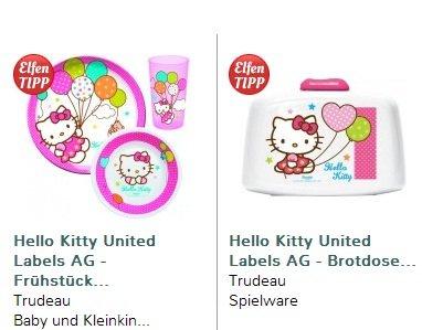 Hello Kitty Brotdose und Frühstückset reduziert von 20,98€ auf 10,98€ (inkl. Versand) @elfen.de