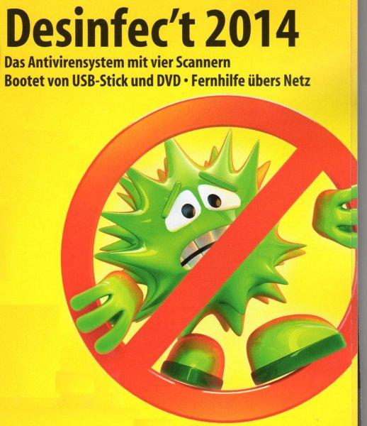 Desinfec't 2014 - Schad-Software auf PCs zuverlässig aufspüren & entfernen (zzgl. kostenlose Tune-Up-Diskussion im Thread)