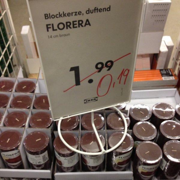 Florera Kerze IKEA für 0,19€ Butzweilerhof