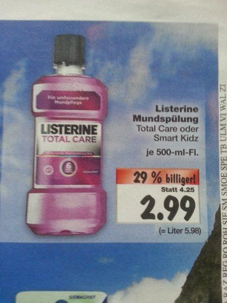 [Kaufland] Listerine Total Care für 2,99 €, bzw. mit Coupies für 1,99 €