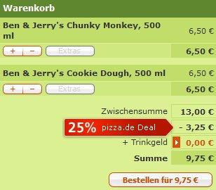 """[Lokal HH Bergedof & Umgebung] 25% auf alles bei """"Pizza For All"""" (Auch Ben & Jerrys)"""