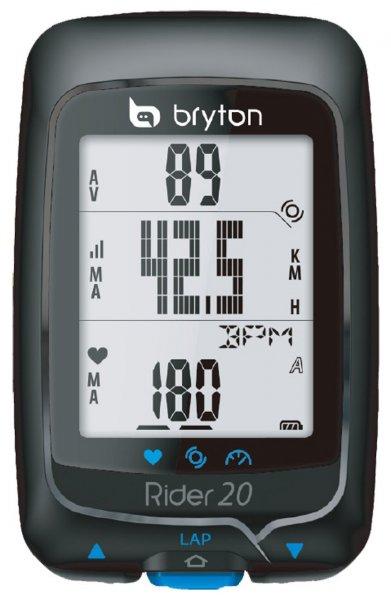 Bryton Rider 20T Fahrradcomputer mit GPS, Herz- und Trittfrequenzsensoren