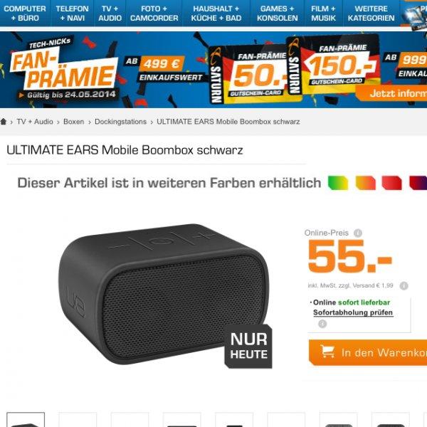 Logitech Mobile Boombox 57 Euro Saturn online. Nur heute!