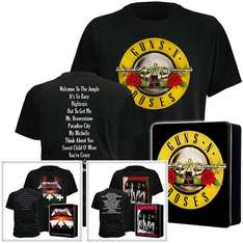 KULT-Shirts  von METALLICA, GUNS N' ROSES und RAMONES+ Metallbox für 9,99€ incl.Versand