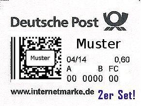 Briefmarken 0,60 €/Stck. 2er Set neu und unbenutzt für 1,01 € inkl. Emailversand
