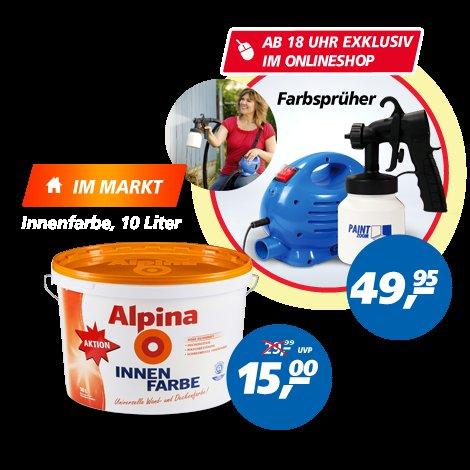 Alpina Innenfarbe weiß 10L Real offline Bundesweit am 24.05.2014