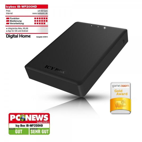 [Ebay]ICY BOX USB 3.0 WLAN 2,5 Zoll Festplatten Gehäuse NAS IB-WF200HD SATA Akku HDD 150 MBit/s WLAN und bis zu 4 Stunden Betrieb mit Akku!