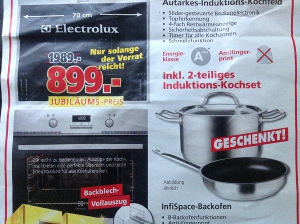 [Lokal Aschaffenburg] Elektrolux Induktionsfeld autark + Backofen