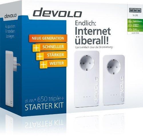 Devolo dLAN Powerline 650 triple+ Starter Kit für 114,99€ frei Haus @AMAZON Blitz