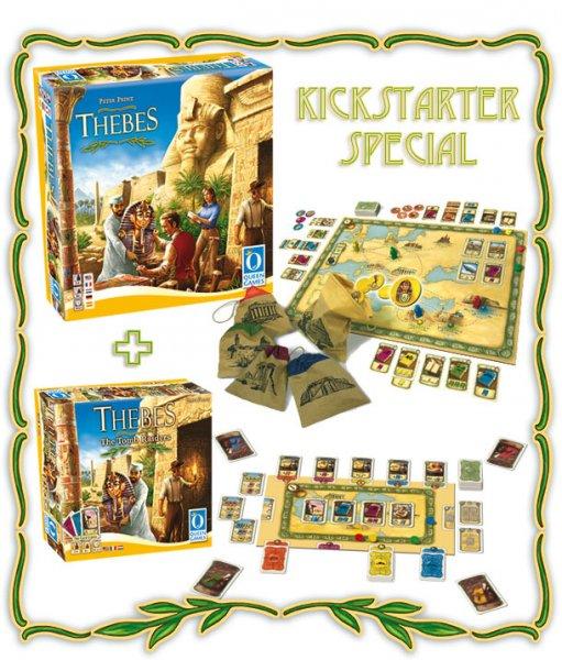 Jenseits von Theben Brettspiel + Kartenspiel + Maharani Brettspiel bei Kickstarter
