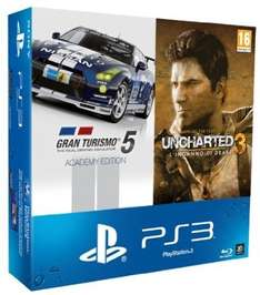 PlayStation 3 Super slim 500GB + Gran Turismo 5: Academy Edition + Uncharted 3: GOTY für 171,84€ @Amazon.it WHD