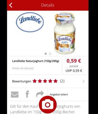 Landliebe Naturjoghurt kostenfrei über scondoo-App testen