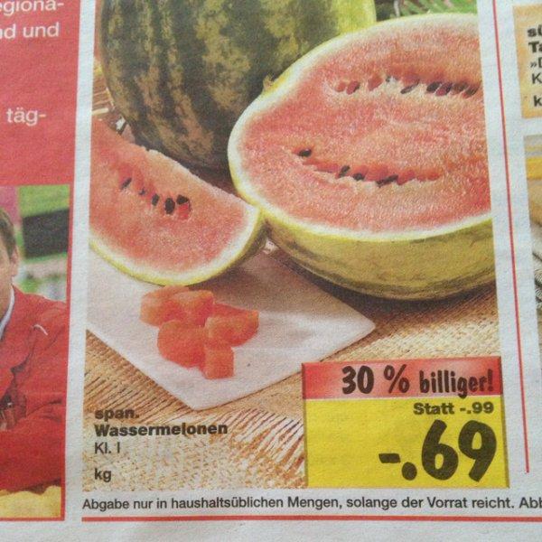 [lokal Lüneburg] Kaufland Wassermelone 0,69€/KG
