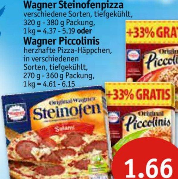 [lokal HH-Hamm/Kiel] Wagner Steinofenpizza für 1,66€