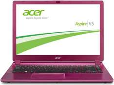 Acer Aspire V5-473-29554G50app 35,6 cm (14 Zoll) Notebook (Intel Celeron 2955U, 1,4GHz, 4GB RAM, 500GB HDD, Intel HD, Win 8) aluminium/pink