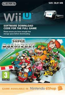 "[game.co.uk]  Klassiker ""Super Mario Kart"" für Wii U Download für 6,13€"