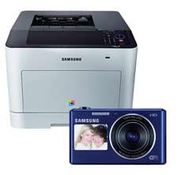 Samsung CLP-680DW Farblaserdrucker + Gratis DV150F Kamera für 333,-€
