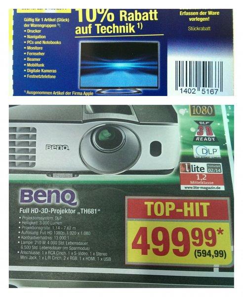 Metro (nur Gewerbetreibende) Benq Full HD-3D Beamer TH681