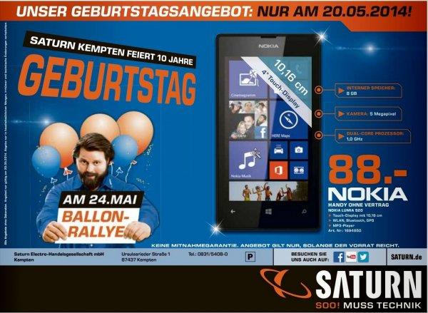 [Lokal Saturn Kempten] Nokia Lumia 520 (nur heute, 20.05.2014)