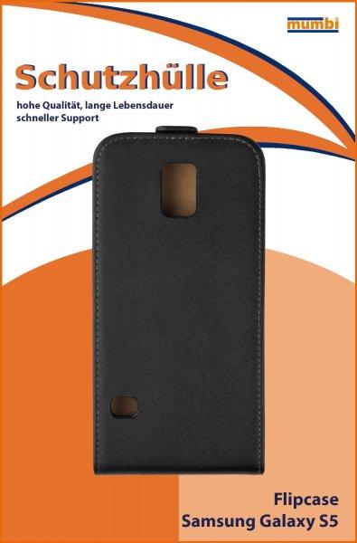 mumbi Flip Case Samsung Galaxy S5 Tasche schwarz/weiß für 0,49 Euro (schnell sein)