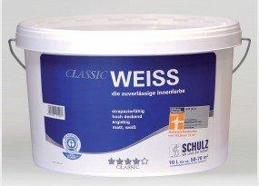 Schulz CLASSIC WEIß Innenfarbe - matt, Deckvermögen Klasse 1 für 28,99€ (10l)