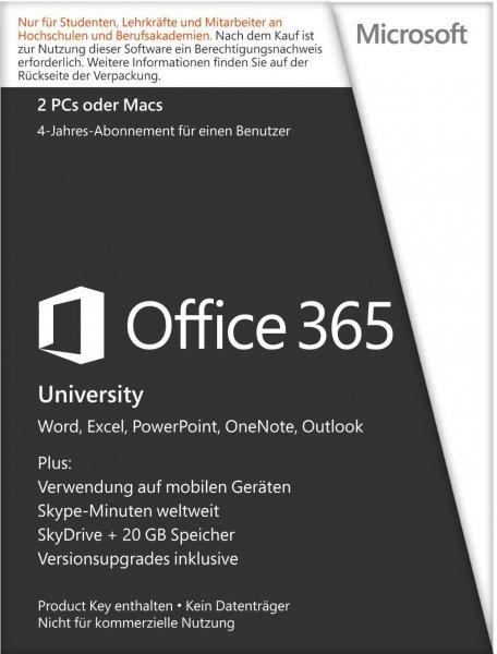 Microsoft Office 365 University Vollversion (Lizenz)