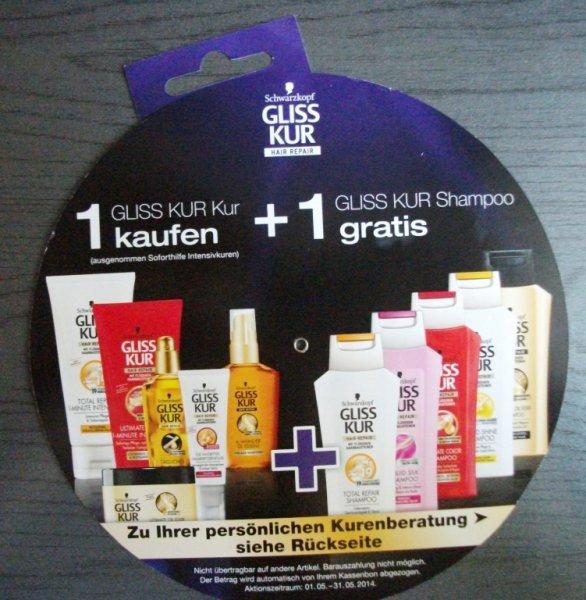 bei dm Gliss Kur Shampoo gratis bei kauf einer Gliss Kur Haar Kur !