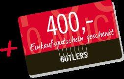 [ONLINE] Bei einem Sofa-Kauf ein Gutschein gratis, z.B. für 699€ Sofa+400€ Gutschein. BUTLERS