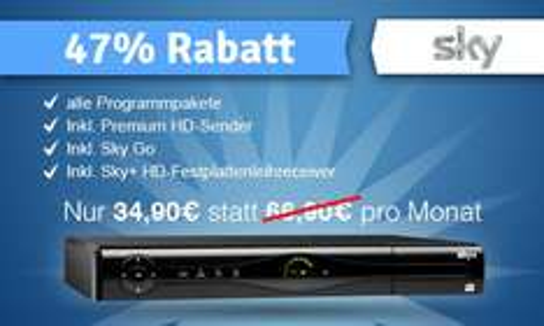 Alle Sky Pakete inkl Premium HD (Multi-Feeds) 24 Monate für 34,90€ pro Monat