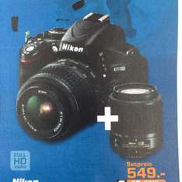Nikon d5100 +18-55 +55-200 für 549€ Saturn Stuttgart