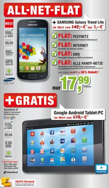Billiger.de: ALL-NET-FLAT für 17,99 Euro + Gratis Tablet